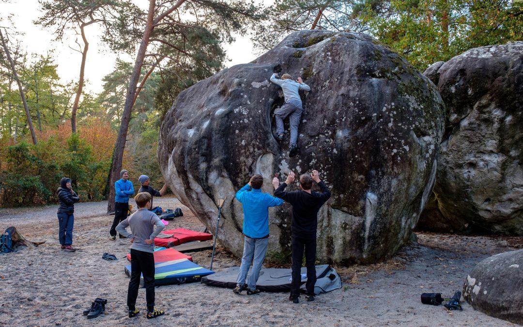 Boulderfreizeit in Fontainebleau